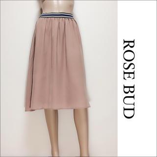 ローズバッド(ROSE BUD)のROSE BUD  シフォンスカート ひざ丈スカート♡ミスティーウーマン イエナ(ひざ丈スカート)
