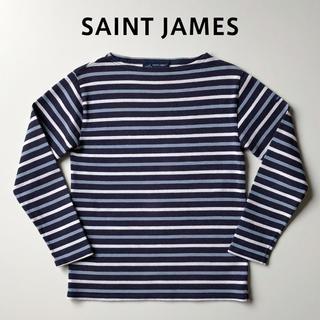 セントジェームス(SAINT JAMES)のsaint james ウェッソン ボーダーカットソー 紺水白 セントジェームス(カットソー(長袖/七分))