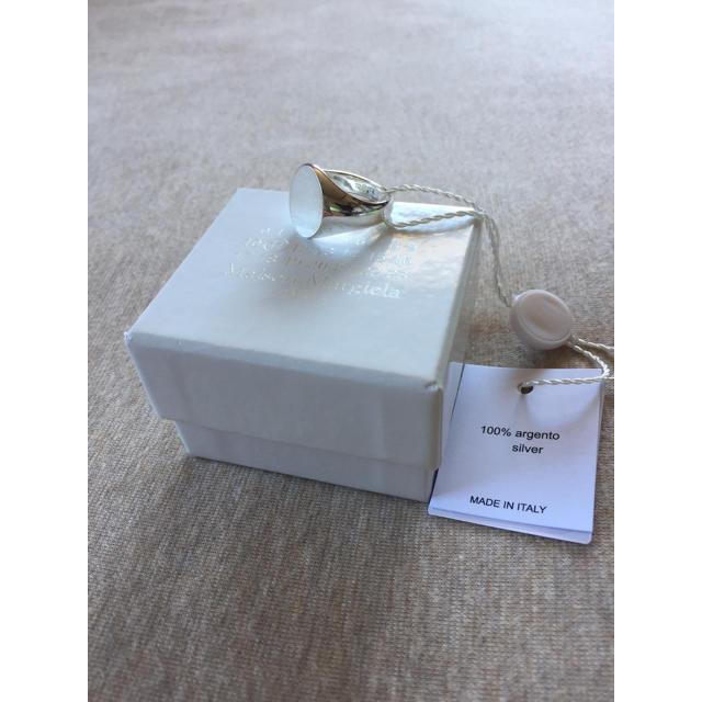 Maison Martin Margiela(マルタンマルジェラ)のM新品 メゾン マルジェラ オーバル リング 指輪 シルバー メンズ 18SS メンズのアクセサリー(リング(指輪))の商品写真