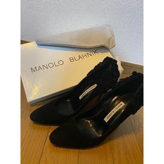 マノロブラニク(MANOLO BLAHNIK)のストラップ付きマノロブラニク37(ハイヒール/パンプス)