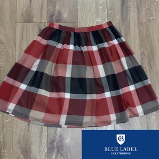 BURBERRY BLUE LABEL - ブルーレーベル クレストブリッジ  チェック スカート サイズ36