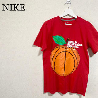 ナイキ(NIKE)のNIKE Tシャツ 赤 メンズ バスケットボール ビッグロゴ デカロゴ(Tシャツ/カットソー(半袖/袖なし))
