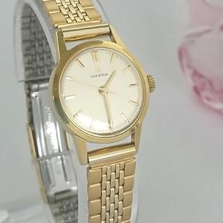 OMEGA - ⭐OH済 綺麗 オメガ 3針 新品ベルト レディース 腕時計 着物にも ギリ美品