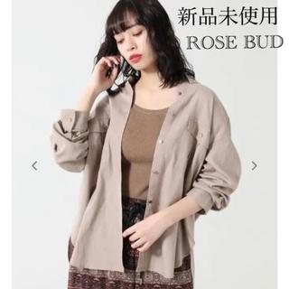 ローズバッド(ROSE BUD)の新品未使用❣️ローズバッド❣️リネンカラーシャツ ベージュ 定価8900円+税(シャツ/ブラウス(長袖/七分))
