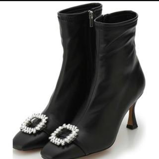 スナイデル(snidel)の2020秋冬 CELFORD  ビジュー付きストレッチブーツ 大人気(ブーツ)