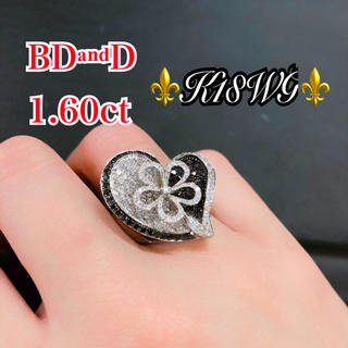 K18ダイヤモンドリング ♥️ダイヤ1.60ct♥️K18WG 🖤BD&D💖