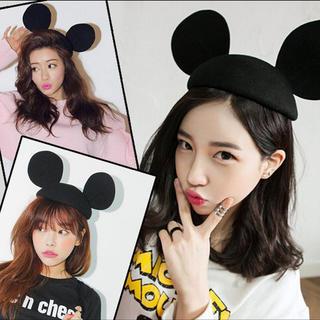 ディズニー(Disney)のミッキー帽子(ハンチング/ベレー帽)