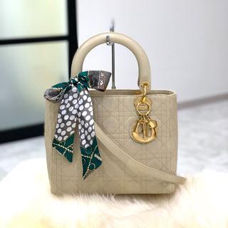 Christian Dior - 美品 クリスチャンディオール レディディオール ベージュ