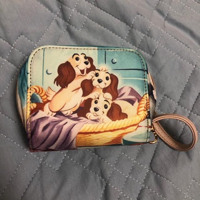 Disney(ディズニー)のディズニー カードケース わんわん物語 エンタメ/ホビーのおもちゃ/ぬいぐるみ(キャラクターグッズ)の商品写真