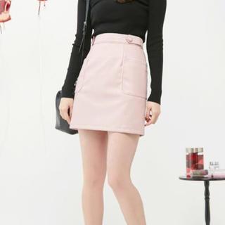イートミー(EATME)のEATME レザースカート ピンク(ミニスカート)