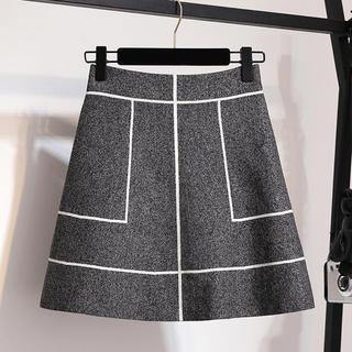 snidel - ラインデザインニット素材スカート
