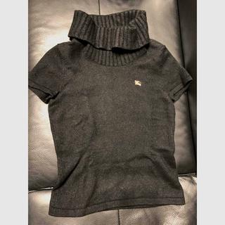 バーバリー(BURBERRY)のBurberryLondonバーバリーロンドンタートルネック半袖セーター ニット(ニット/セーター)