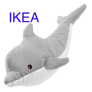 イケア(IKEA)のIKEA ソフトトイ イルカ GENOMBLÖT【新品 未使用】(ぬいぐるみ)
