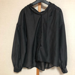 ミスティウーマン(mysty woman)の【misty woman】3wayシアーシャツ 黒(シャツ/ブラウス(長袖/七分))