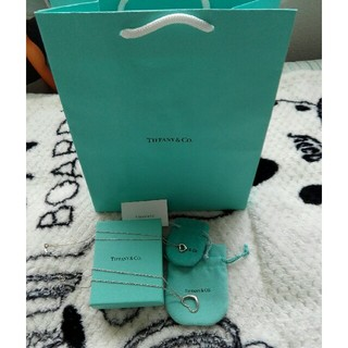 Tiffany & Co. - ティファニー オープンハートネックレス!M、Sサイズ!