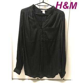 エイチアンドエム(H&M)のH&M 黒シャツ(シャツ/ブラウス(長袖/七分))
