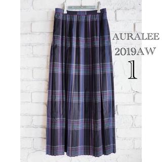 コモリ(COMOLI)のAURALEE オーラリー スーパーライトウールプリーテッドスカート(ロングスカート)