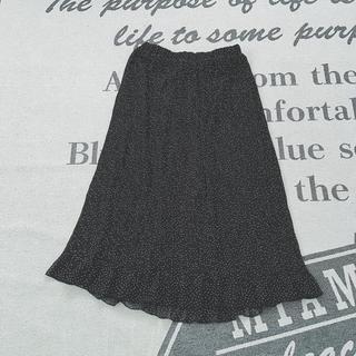 LOWRYS FARM - 9/30まで出品!ローリーズファーム ドット ブラック プリーツスカート