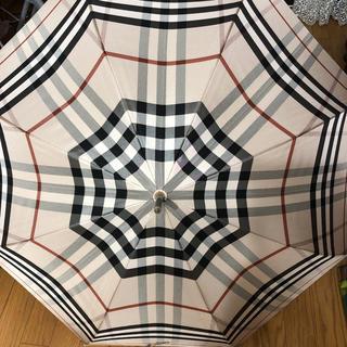 バーバリー(BURBERRY)のバーバリー メンズ 長傘 雨傘 ベージュ ノバチェック(傘)