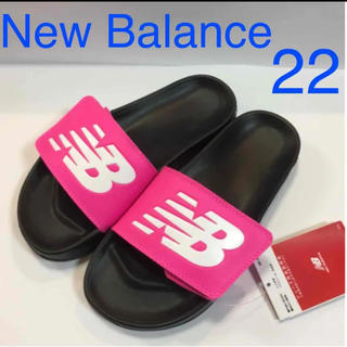 New Balance - 新品 ニューバランス サンダル ロゴ シャワーサンダル レディース ブラック