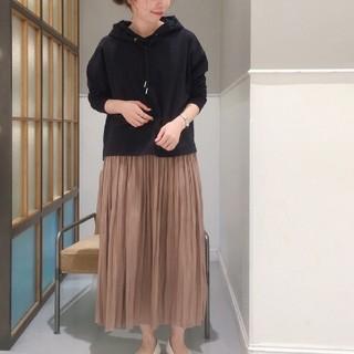 レプシィム(LEPSIM)のLEPSIMフィラメントプリーツスカート モカM(ロングスカート)
