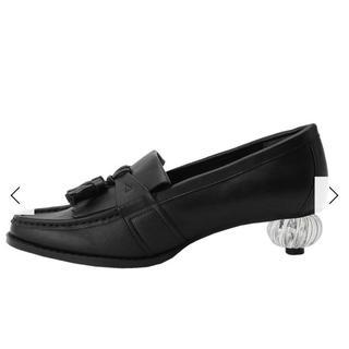 メリージェニー(merry jenny)のメリージェニー antiqueクリアヒールローファー ブラック(ローファー/革靴)