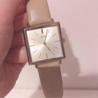 ete - 2万円 エテ スクエアウォッチ 腕時計