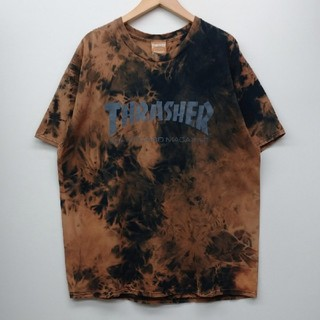 THRASHER - THRASHER スラッシャー ブリーチ加工Tシャツ XL