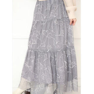 リランドチュール(Rirandture)のars☆さま専用 リランドチュール ドローイング刺繍チュールスカート(ロングスカート)