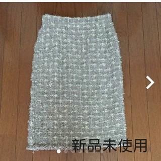 スピックアンドスパン(Spick and Span)の ツイードタイトスカート(ひざ丈スカート)