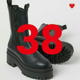 エイチアンドエム(H&M)の38エイチアンドエム h&mプラットフォームチェルシーブーツVERY掲載ハイプロ(ブーツ)