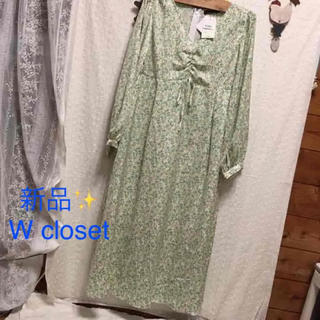 w closet - 感謝sale❤️3146❤️新品✨W closet③❤️ゆったり可愛いワンピース