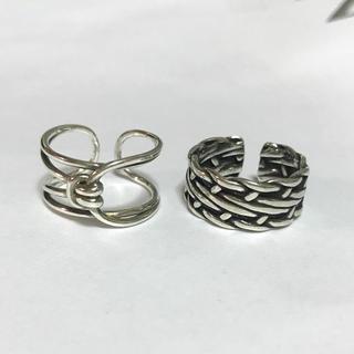 BEAMS - Cross winding knot ring set