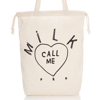 ミルクフェド(MILKFED.)の新品♡ミルクフェド 2wayトートバッグ大 巾着 バッグインバッグ(トートバッグ)