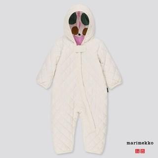 マリメッコ(marimekko)の海外限定 marimekko×ユニクロ カバーオール白70 マリメッコ 新品(カバーオール)