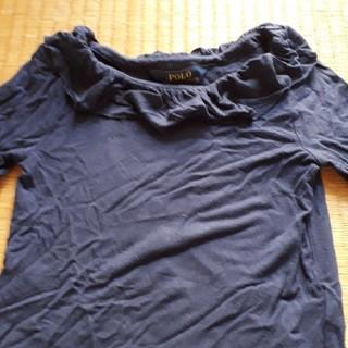 ポロラルフローレン(POLO RALPH LAUREN)の120㎝ 女児紺色ラルフローレン七分袖カットソー(Tシャツ/カットソー)