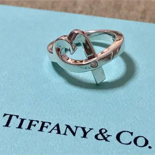 Tiffany & Co. - ティファニー パロマピカソ  ラビングハート ダイヤモンド リング 指輪 8号
