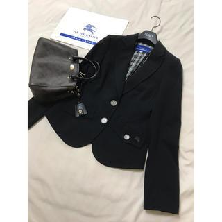 バーバリーブルーレーベル(BURBERRY BLUE LABEL)の美品 バーバリー ブルーレーベル ジャケット 黒 ブラック卒業 入学 フォーマル(テーラードジャケット)