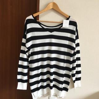 ヴィス(ViS)のVIS スリット入りボーダートップス(Tシャツ(長袖/七分))