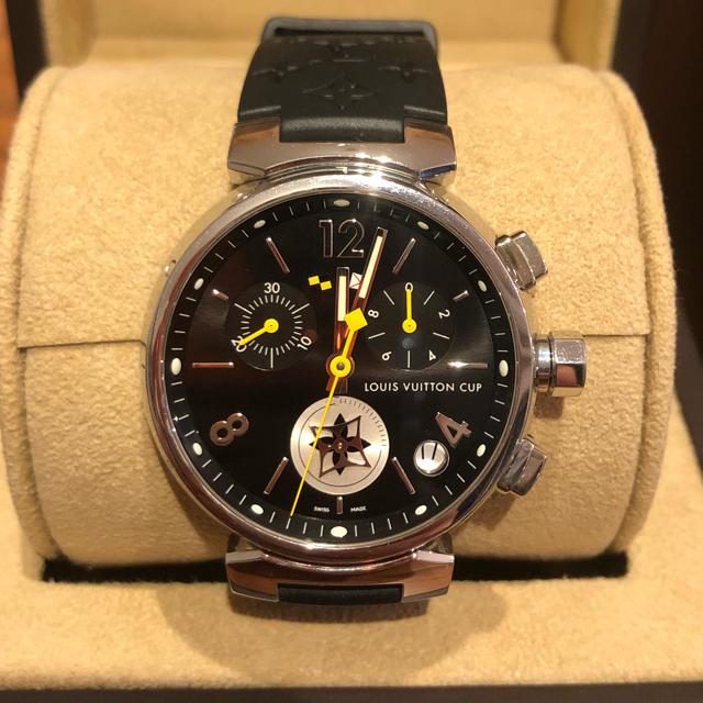 LOUIS VUITTON(ルイヴィトン)のLOUIS VUITTON ルイヴィトン タンブール クロノ ラブリーカップ メンズの時計(腕時計(アナログ))の商品写真