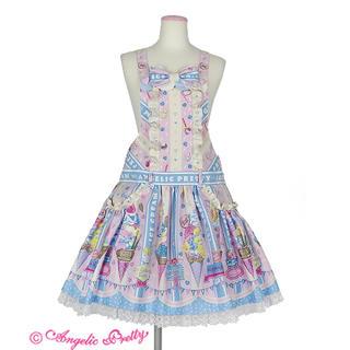 アンジェリックプリティー(Angelic Pretty)のIce Cream Parlorサロペット ピンク×サックス(サロペット/オーバーオール)