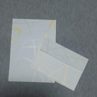 【4点1000円】和柄 ラメのライン入り レターセット(カード/レター/ラッピング)