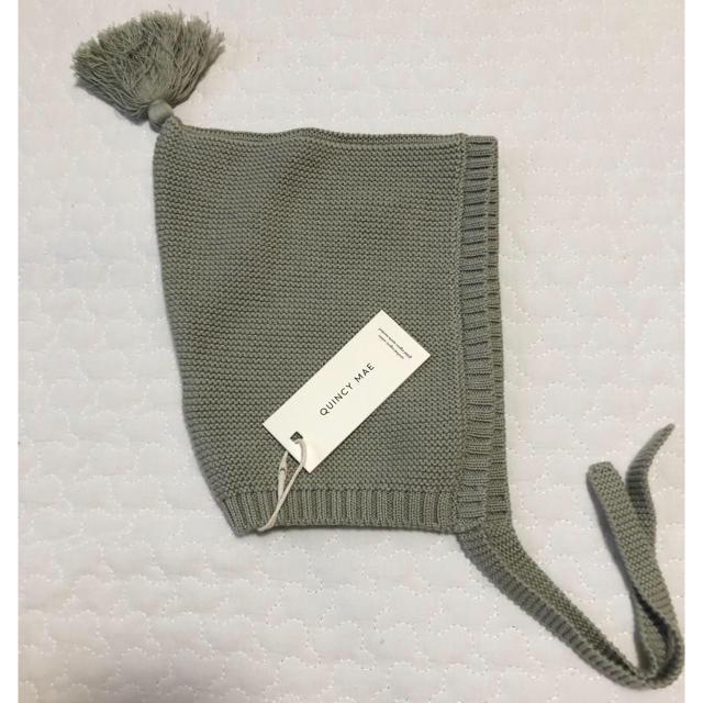 こども ビームス(コドモビームス)の新品未使用 quincymae ボンネット sage 12-24m キッズ/ベビー/マタニティのこども用ファッション小物(帽子)の商品写真
