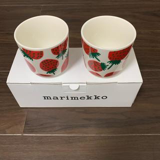 マリメッコ(marimekko)のmarimekko mansikka ラテマグ 二個セット(食器)