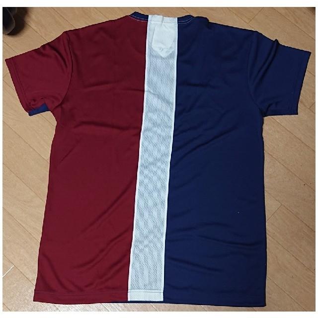 asics(アシックス)のアシックス Tシャツ XL 紺 エンジ 白 スポーツ/アウトドアのスポーツ/アウトドア その他(バレーボール)の商品写真