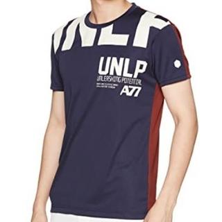 asics - アシックス Tシャツ XL 紺 エンジ 白