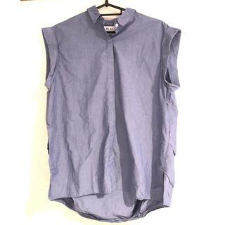 ブラックバイマウジー(BLACK by moussy)のブラック バイ マウジー シャツ ブルー 美品(シャツ/ブラウス(半袖/袖なし))