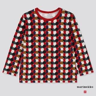 マリメッコ(marimekko)の日本未発売!UNIQLO×マリメッコ コラボのドット長袖Tシャツ80(シャツ/カットソー)