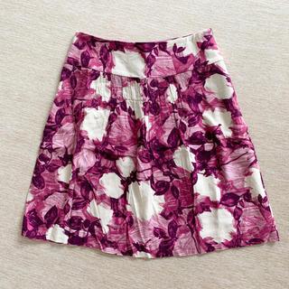 ノーブル(Noble)のNOBLE 大人花柄スカート(ひざ丈スカート)