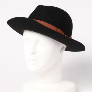 ローズバッド(ROSE BUD)のローズバッド LANE D OLIMPIA リボン付き中折れハット 帽子 黒(ハット)